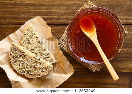 Rose Hip Jam and Bread