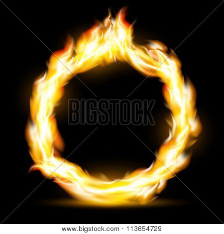 Burning Ring. Stock Illustration.