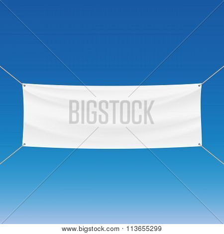 White Banner. Stock Illustration.