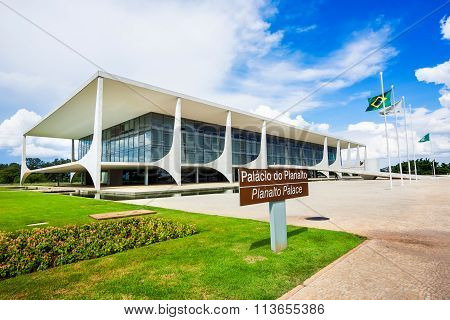 Palacio Do Planalto (planalto Palace) In Brasilia, Brazil