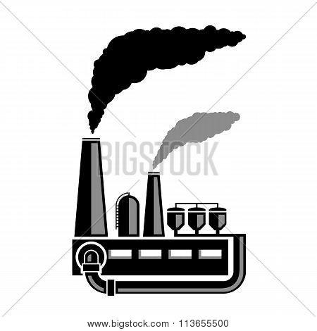 Industrial Factory. Stock Illustration.