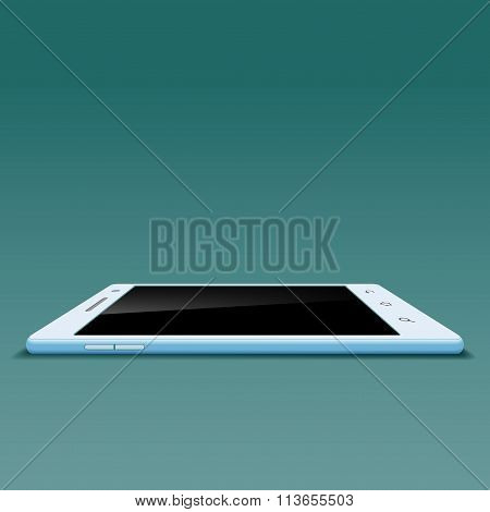 White Smartphone. Stock Illustration.
