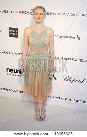 Leven Rambin at the 21st Annual Elton John AIDS Foundation Academy Awards Viewing Party held at the West Hollywood Park in Los Angeles, USA on February 24, 2013.