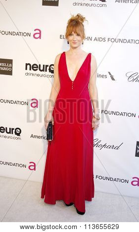 Judy Greer at the 21st Annual Elton John AIDS Foundation Academy Awards Viewing Party held at the West Hollywood Park in Los Angeles, USA on February 24, 2013.
