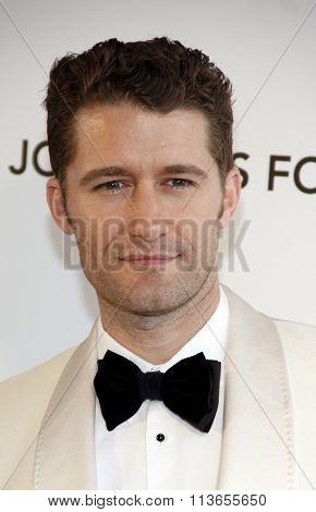 Matthew Morrison at the 21st Annual Elton John AIDS Foundation Academy Awards Viewing Party held at the West Hollywood Park in Los Angeles, USA on February 24, 2013.