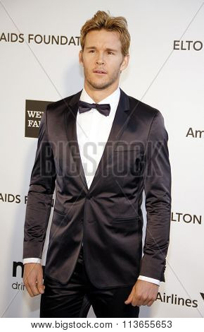 Ryan Kwanten at the 21st Annual Elton John AIDS Foundation Academy Awards Viewing Party held at the West Hollywood Park in Los Angeles, USA on February 24, 2013.
