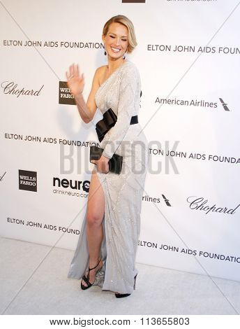 Petra Nemcova at the 21st Annual Elton John AIDS Foundation Academy Awards Viewing Party held at the West Hollywood Park in Los Angeles, USA on February 24, 2013.
