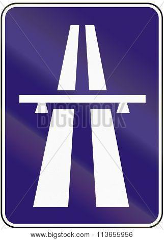 Road Sign Used In Slovakia - Motorway