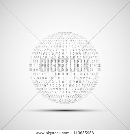 Ball Of Binary Code.