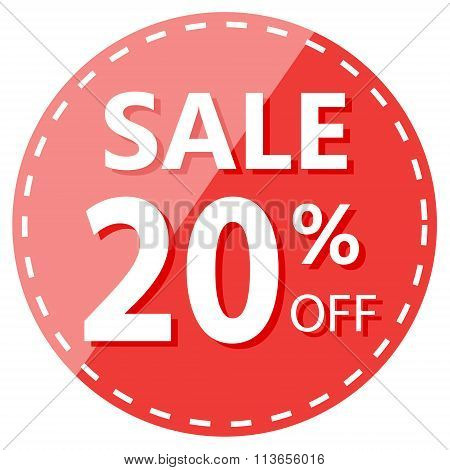 Red Hot Sale 20% Off Label