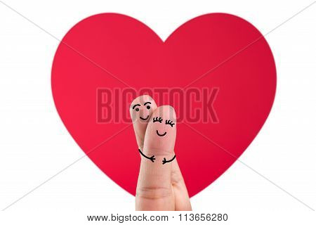 Happy Finger Couple In Love