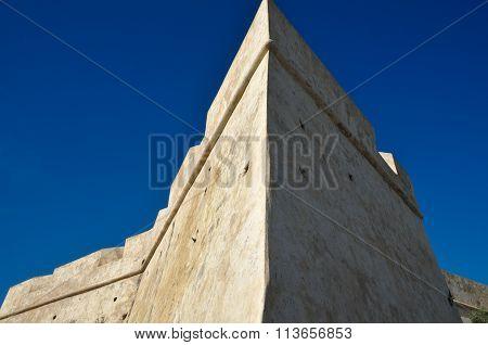 Corner detail of Saint Sebastian Fort