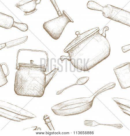 Kitchenware. Stock Illustration.