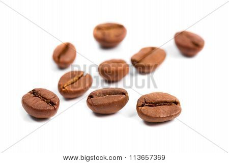 Coffee Beans Isolated On White.