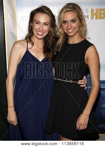 Margaret Judson and Wynn Everett at the Los Angeles premiere of HBO's