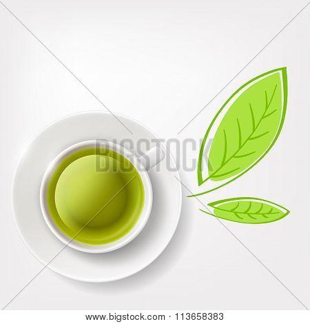 Green Tea. Stock Illustration.