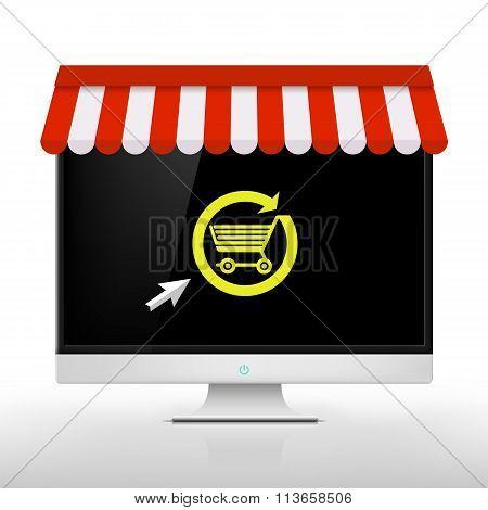 E-shop. Vector Image