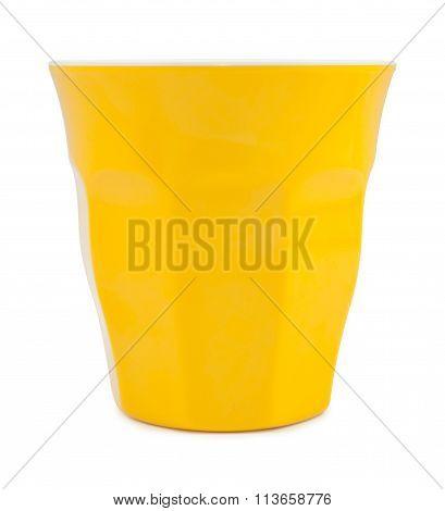 Yellow Plastic Glass