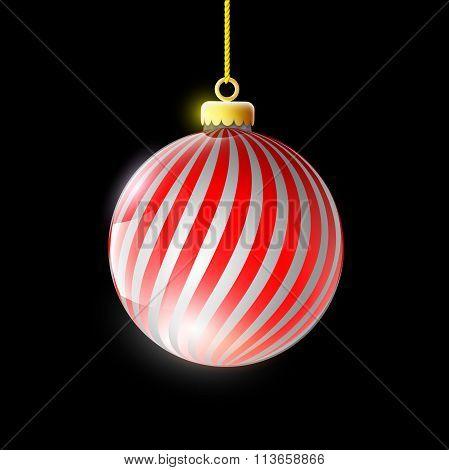 Christmas Ball.  Stock Illustration.