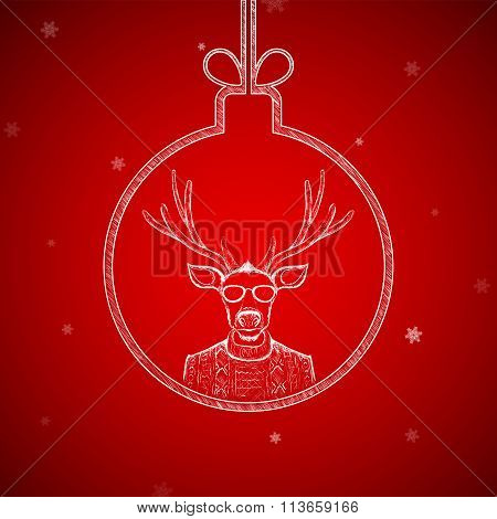 Christmas Ball. Stock Illustration.