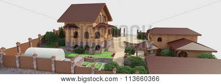 Detailed landscape design elements