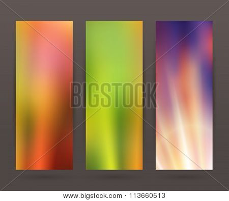 Set Vertical Banner Background Template Layout Flyer63