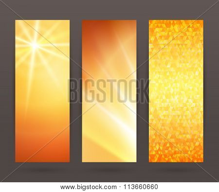 Set Vertical Banner Background Template Layout Flyer66
