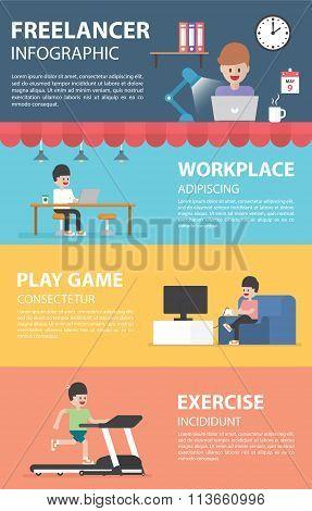 Freelance Infographic Design Elements