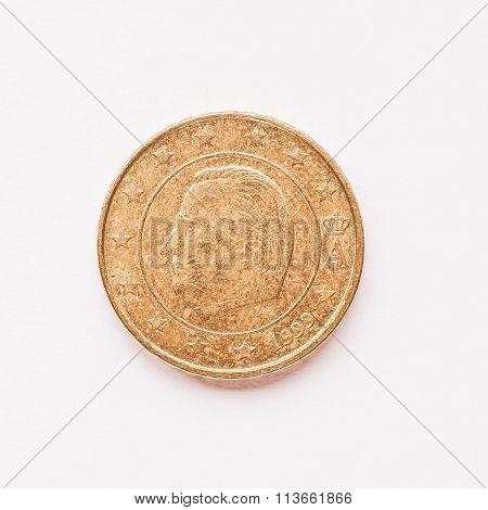 Belgian 10 Cent Coin Vintage