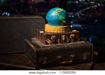 World Traveler Wedding Cake