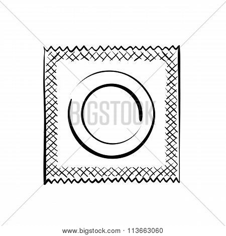 Condom. Stock Illustration.