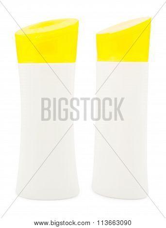 Plastic Bottles On White Background
