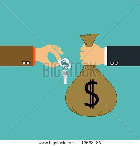 Buying Cars. Stock Illustration.