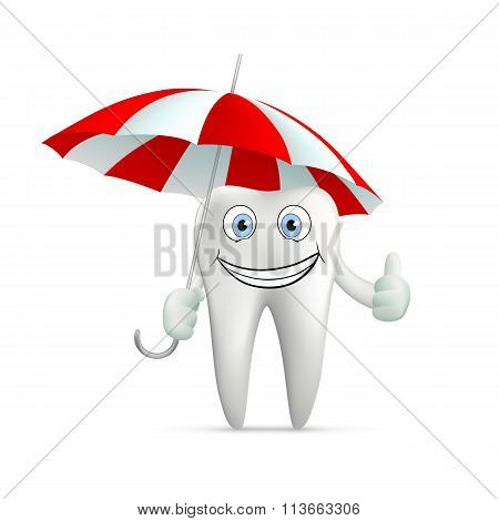 Human Tooth. Stock Illustration.