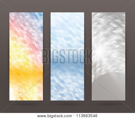 Set Vertical Banner Background Template Layout Flyer73