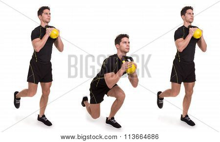 Kettlebell, Uni Front Squat, Exercise