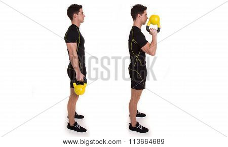 Kettlebell, Uni Pinch Curl, exercise