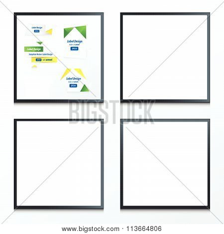 Banner Origami  Yellow, Blue, Green