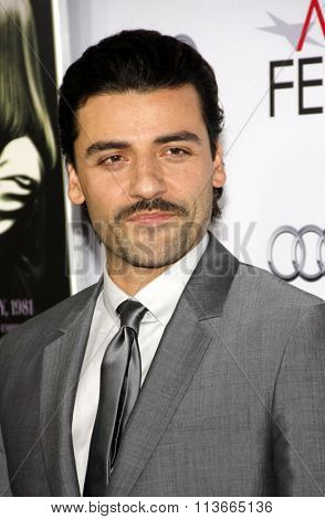Oscar Isaac at the AFI FEST 2014 Opening Night Gala Premiere of