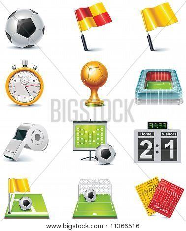 Vektor-Fußball-Icon-set