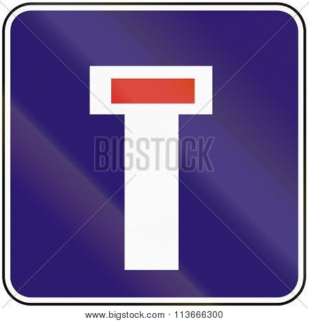 Road Sign Used In Slovakia - Dead End