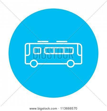 Bus line icon.