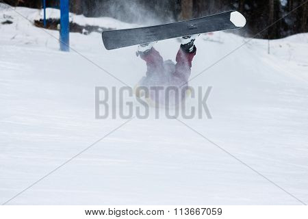Freerider Falling Down The Slope