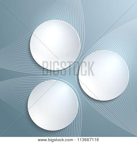 White Plastic Wheels Gray Light Background Flyer Template