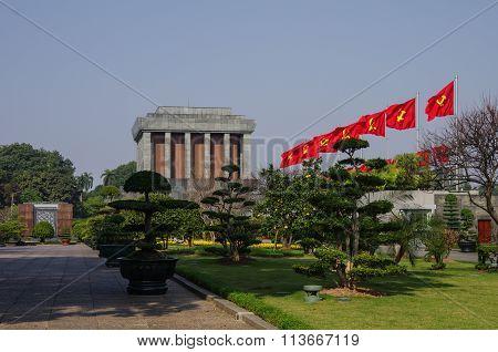 Ho Shi Min Mausoleum In Hanoi City
