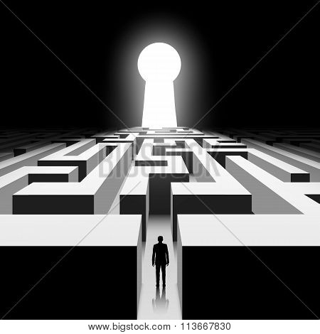 Dark Labyrinth. Stock Illustration.