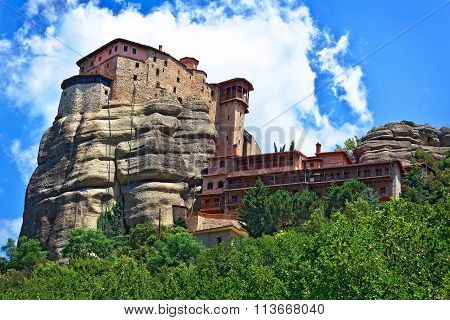 The Holy Monastery Of St. Nicholas Anapausas, Built In The 16Th Century. Meteora, Greece