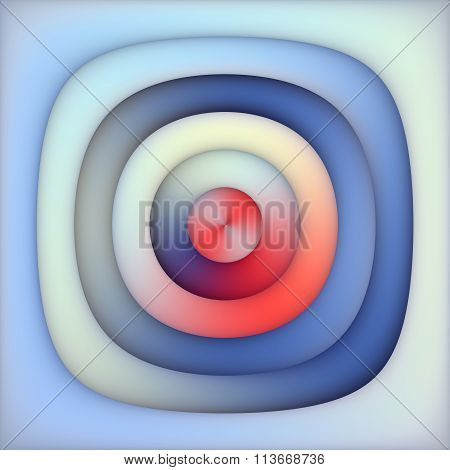Raster Multicolor Blue Red Shades Gradient Concentric Circles Abstract Background