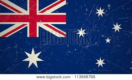 Australian flag with grunge texture.
