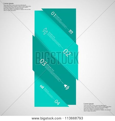 Light Illustration Infographic With Bar Askew Divided To Four Parts